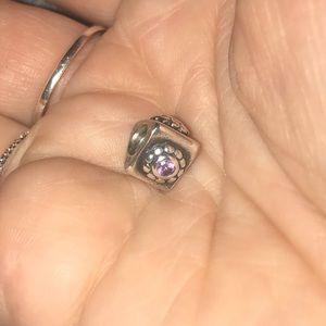 Pandora Triangular Purple Bead